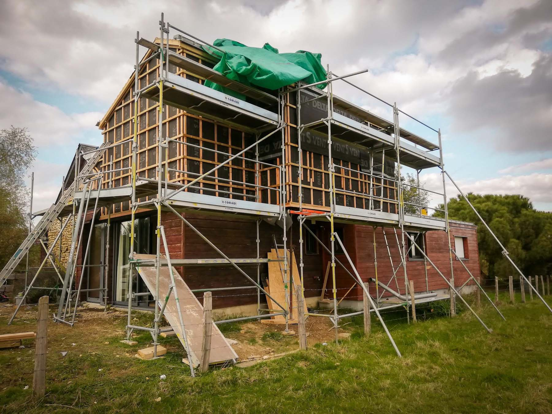 Réalisation d'une extension en surélévation d'une maison