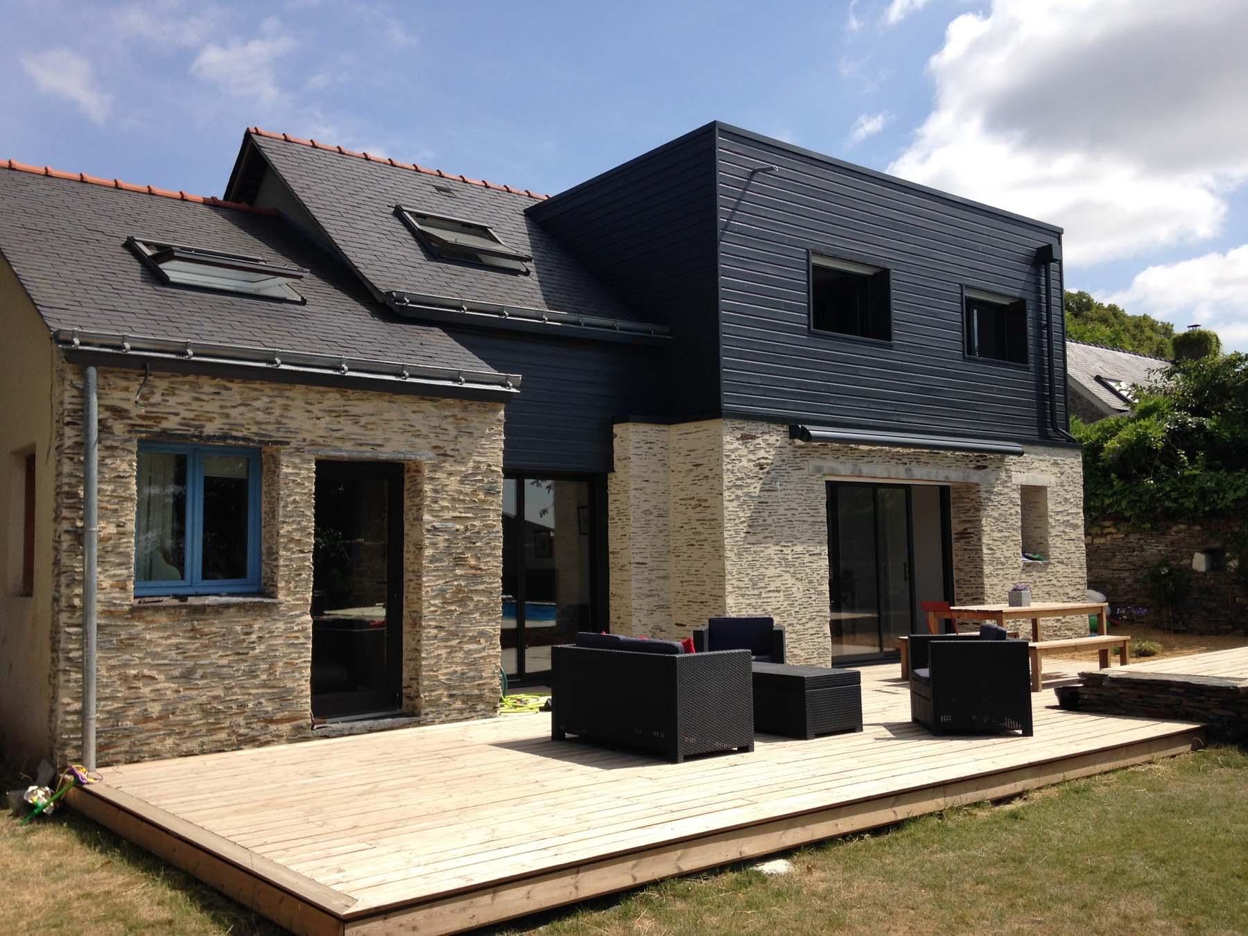 Réalisation d'une extension et aménagement intérieur près d'Angers